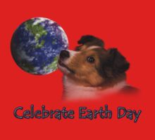 Celebrate Earth Day Sheltie Puppy Baby Tee