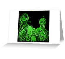 Neon Green Gas Mask Girls Greeting Card