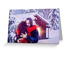 A Rumbelle Christmas Moment Greeting Card