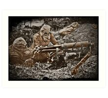 Gas Masks in the Western Front WWI Art Print