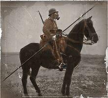 German Lancer on Horseback WWI by diane  addis