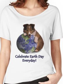 Celebrate Earth Day Everyday Sheltie Women's Relaxed Fit T-Shirt