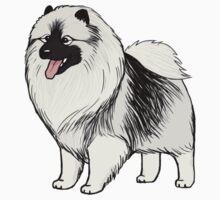 Keeshond Cartoon Dog by Jenn Inashvili
