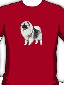 Keeshond Cartoon Dog T-Shirt