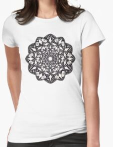 Fly Away With Me Mandala Womens Fitted T-Shirt