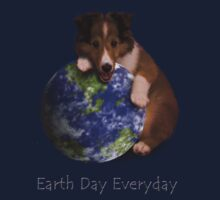 Earth Day Everyday Sheltie Puppy Kids Clothes
