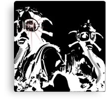 Star in Her Eye Gas Masks Canvas Print