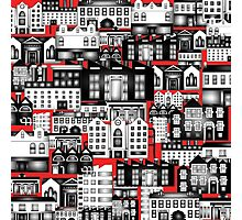 SPLASHYARTYSTORY - ALL ABOUT BUILDINGS red Photographic Print