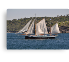 """Tecla"", Tall Ships Departure, Manly, Australia 2013 Canvas Print"