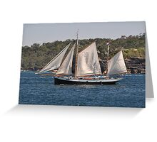 """Tecla"", Tall Ships Departure, Manly, Australia 2013 Greeting Card"
