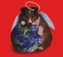 Earth Day Angel Sheltie Baby Tee
