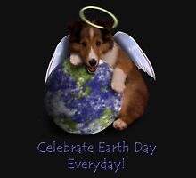 Celebrate Earth Day Everyday Angel Sheltie Hoodie