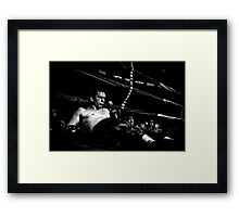 a very bad day Framed Print