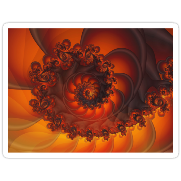 Decorative Shell Fractal  by Kitty Bitty