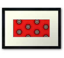 Red Violin - Abstract Bubbles Framed Print
