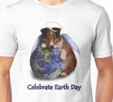 Celebrate Earth Day Angel Sheltie Puppy Unisex T-Shirt