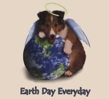 Earth Day Everyday Angel Sheltie Puppy by jkartlife
