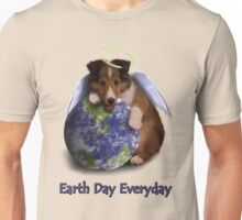 Earth Day Everyday Angel Sheltie Puppy Unisex T-Shirt