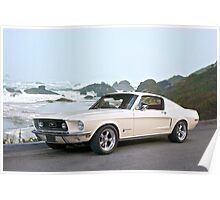 1968 Ford Mustang Fastback Poster
