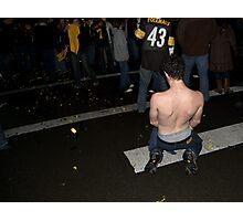 No Shirts at the Superbowl Photographic Print