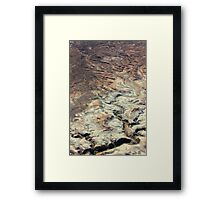 Patterns in the Canyon Framed Print