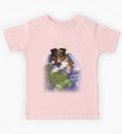 Earth Day Angel Sheltie Kids Tee