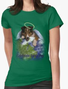 Celebrate Earth Day Angel Sheltie T-Shirt