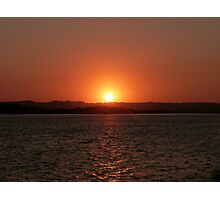 Red Water Sunset Photographic Print