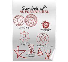 Supernatural Symbols 101 Poster
