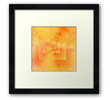 Yellow Feedback by Elisabeth and Barry King™ Framed Print