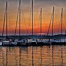 Marina Sunset by Kathy Weaver