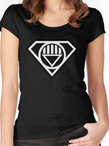 Black Lantern Superman insignia Women's Fitted Scoop T-Shirt