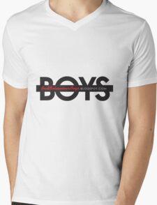 Bad Boys Strikethru Blk Mens V-Neck T-Shirt