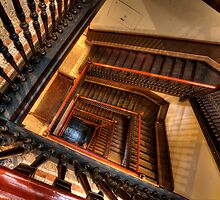 Fine Arts Building Stairway by Adam Bykowski