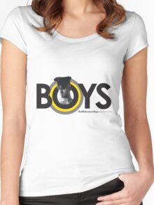 BadBoy Leather - Blk Yel Women's Fitted Scoop T-Shirt
