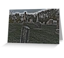 Haunted Cemetery Greeting Card