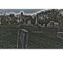 Haunted Cemetery Photographic Print