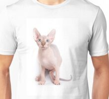 Sphinx kitten with blue eyes Unisex T-Shirt