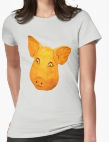 Pigs Head.......... Womens Fitted T-Shirt