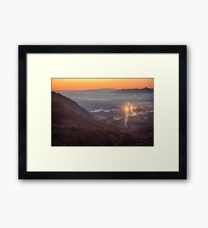 Sky Valley Sunset Framed Print