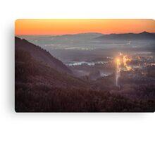 Sky Valley Sunset Canvas Print