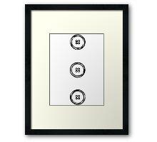LINEart T-shirt : Three  Buttons. Framed Print