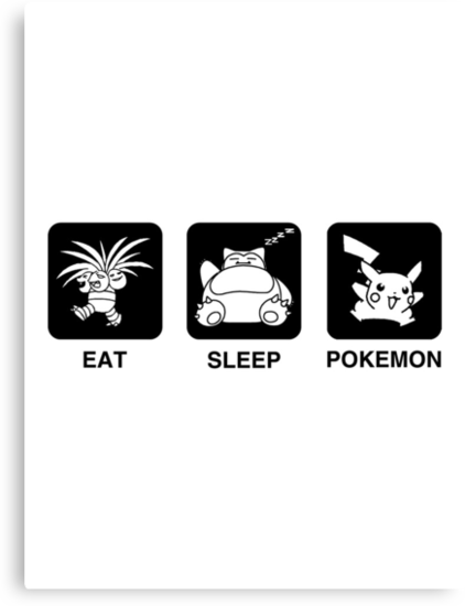Eat Sleep Pokemon by Royal Bros Art