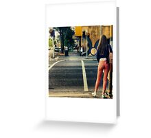 A Street Portrait Southbank Traffic Lights Greeting Card