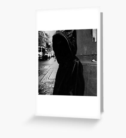 Street Noir Melbourne Faceless Statues Greeting Card