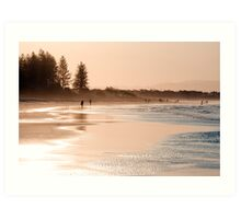 Shimmering sands - Byron sunset Art Print