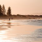 Shimmering sands - Byron sunset by Jenny Dean