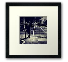 Boys Love Standing Near Traffic Lights in Southbank Framed Print