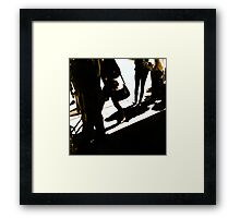 Shadows on Flinders Street Station Framed Print
