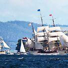 Tall Ships, Hobart, Tasmania, Lady Franklin follows Europa up the Derwent to Hobart by Odille Esmonde-Morgan